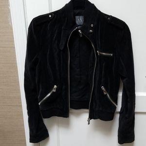 Vintage AX Moto-style Velvet Jacket